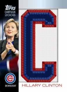 Hillary Clinton Baseball Card