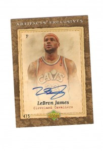Lebron James Auto-Facts Card