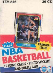 1986/87 Fleer Basketball Box