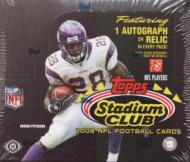 2008 Topps Stadium Club Football Hobby Box