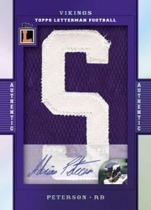 Adrian Peterson Autographed Letterman Card