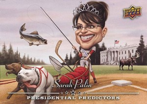 Parody card of V.P. hopeful Sarah Palin