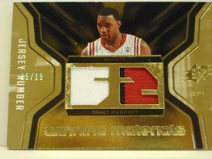 Tracy McGrady Jersey Card