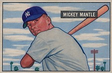 1951 Bowman Mickey Mantle Baseball Card