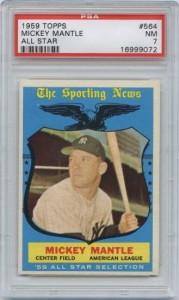 1959 Topps Mickey Mantle All Star Card