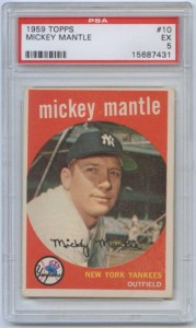 1959 Topps Mickey Mantle Baseball Card