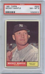 1961 Topps Mickey Mantle Baseball Card