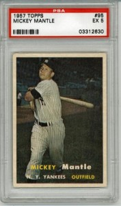 1957 Topps Mickey Mantle Baseball Card