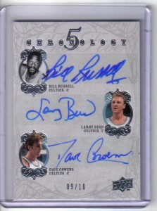 Boston Celtics Autographed Card