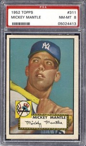 Mickey Mantle 1952 Topps Card