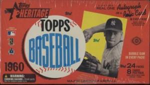 2009 Topps Heritage baseball Cards HObby Box