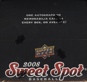2008 Upper Deck Sweet Spot Baseball Box