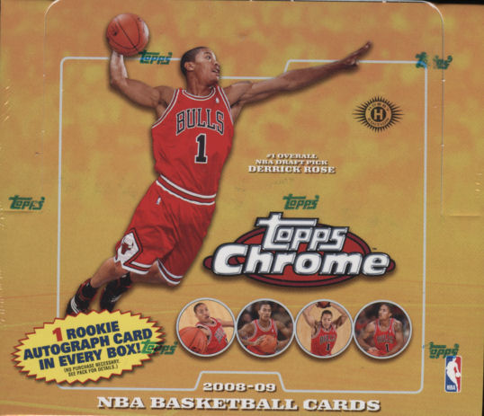 Topps Chrome Basketball Box