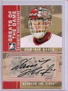 Dominik Hasek Autographed Hockey Card