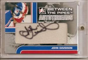 John Davidson Autographed Hockey Card