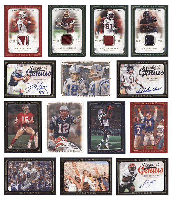 2008 Upper Deck Masterpieces Football