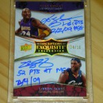 Phenomenal Pull: Kobe Bryant Lebron James Exquisite Basketball Dual Inscription Auto