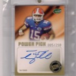 Phenomenal Pull: Tim Tebow 2010 Press Pass Power Picks Autograph