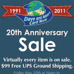 Dave and Adam's 20th Anniversary Sale