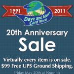 Dave and Adam's 20th Anniversary Sale