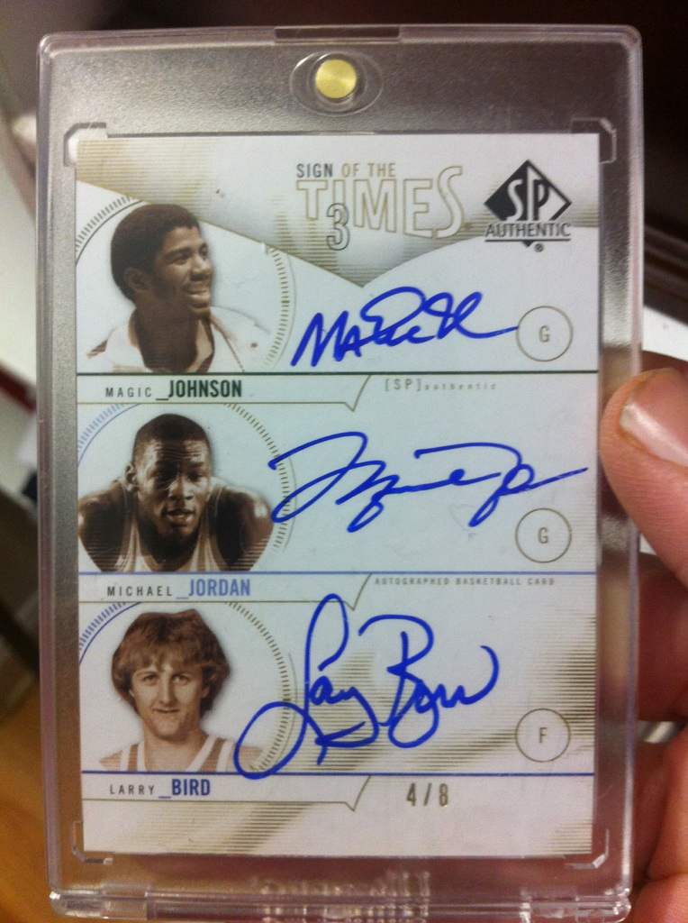 Phenomenal Pull Magic Jordan Bird Triple Auto Dave