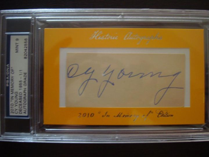 Cy Young Cut Autograph 1/1