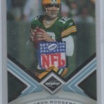 Huge Aaron Rodgers 1/1 NFL Logo Patch Hit from 2010 Panini Limited Football