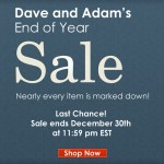 Happy Holidays from Dave & Adam's and The End of Year Sale