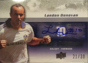 Landon Donovan Autograph Card