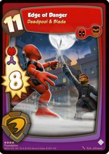 Marvel Super Hero Online Blade vs Deadpool Card