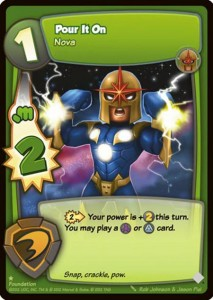Marvel Super Hero Online Nova Card