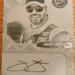 Phenomenal Pull: Jimmie Johnson Auotgraphed Printing Plate!