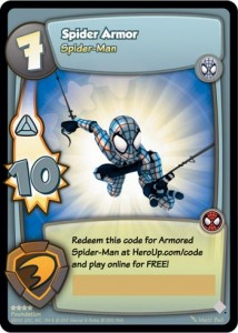 Marvel Super Hero Online Loot Card