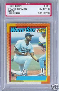 Vision Quest The 1990 Topps Frank Thomas Error Card Dave