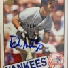 2012 Don Mattingly Archives Auto Hard Signed- Dylan Hayes