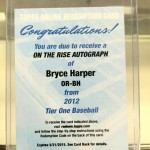 June 'Hit of the Month' Entry #17 – Topps Tier One: Bryce Harper