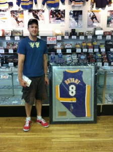 Kobe Bryant Framed Autographed Jersey