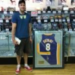 Kobe Bryant Framed Autographed Jersey Winner
