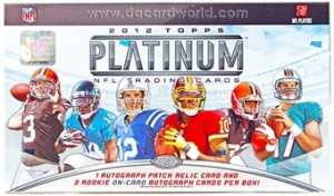 2012 Topps Platinum Football