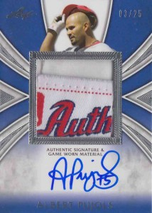 Albert Pujols Patch Auto
