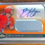 Phenomenal Pull: 2012 Bryce Harper Autographed Orange Refractor