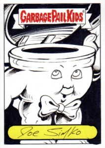2012 Topps Garbage Pail Kids Brand New Series Sketch Card