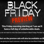 The Dave and Adam's Black Friday Preview Sale !