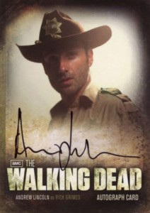2012 Cryptozoic Walking Dead Season 2 Autographs Andrew Lincoln as Rick Grimes