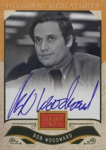 2012 Panini Golden Age Historic Signatures Bob Woodward