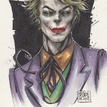 2013 Cryptozoic Batman the Legend Sketch Card 01 Melike Acar Joker