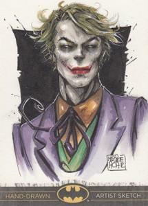 2013 Cryptozoic Batman the Legend Sketch Card 01 Melike Acar Joker