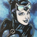 2013 Cryptozoic Batman the Legend Sketch Card 05 Remi Dousset Catwoman