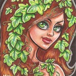2013 Cryptozoic Batman the Legend Sketch Card 06 Mercer Poison Ivy