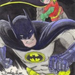2013 Cryptozoic Batman the Legend Sketch Card 09 Daniel Batman Robin